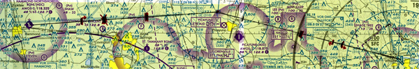 Aviation sectional chart